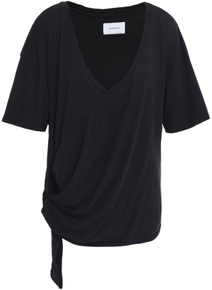 Current/Elliott Lace-up Cotton-jersey T-shirt