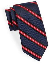 Black Brown 1826 Classic Textured Stripe Tie
