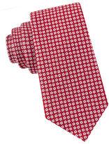 Black Brown 1826 Floral Neat Silk Tie