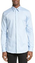 Givenchy Men's Star Collar Stay Woven Button Front Shirt
