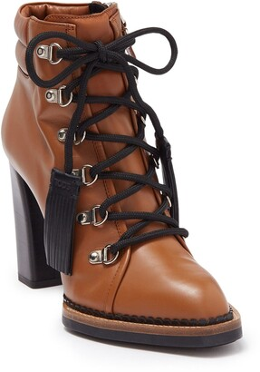 Tod's Fringe Leather Block Heel Boot