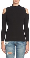 1 STATE Women's 1.state Cold Shoulder Mock Neck Sweater