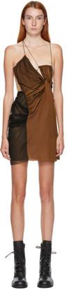Nensi Dojaka SSENSE Exclusive Black and Brown Twisted Mini Dress
