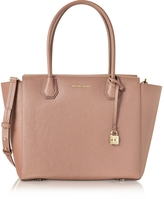 Michael Kors Mercer Large Bonded Pebble Leather Satchel