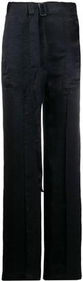 Ann Demeulemeester Straight-Leg Buckle Detail Trousers