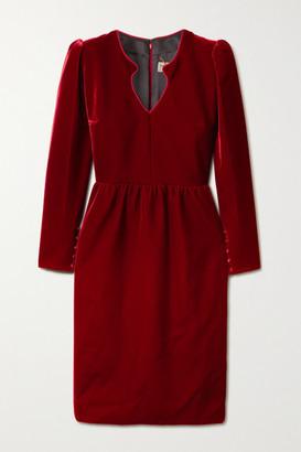 Saint Laurent Velvet Dress - Red