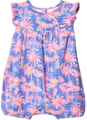 Vineyard Vines Kids Monkey Business Print Knit Bubble (Infant) (Monkey Business/Colored Ground/Marlin/Sunrise) Girl's Jumpsuit & Rompers One Piece