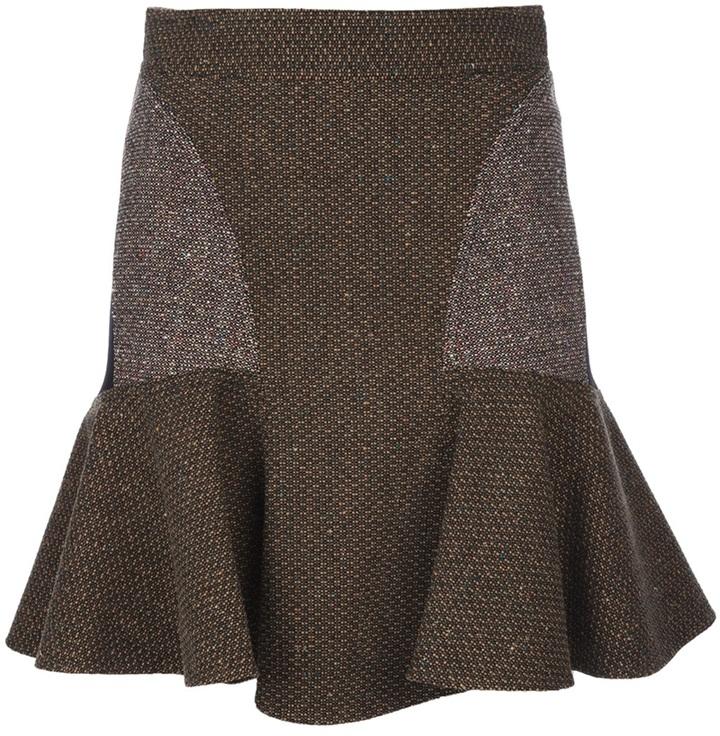 Stella McCartney pleated panel skirt