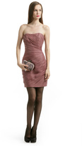 Christian Siriano Mauve Spiral Strapless Dress