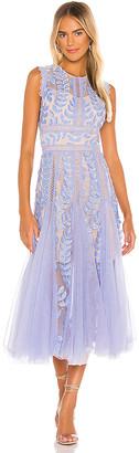 Bronx and Banco Violet Flared Dress