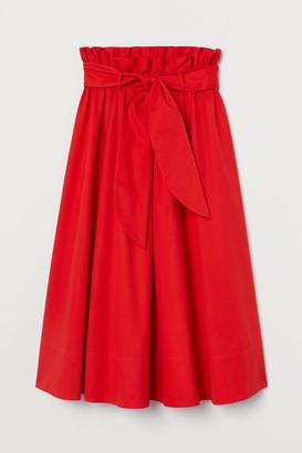 H&M Paper-bag Circle Skirt - Orange