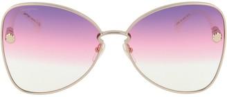 Salvatore Ferragamo Eyewear Butterfly Framed Sunglasses
