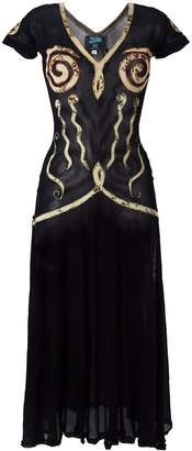 Jean Paul Gaultier Pre-Owned appliqué sheer dress