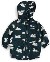 Stella McCartney Infant Girl's Beck Swan Print Waterproof Jacket With Removable Hood