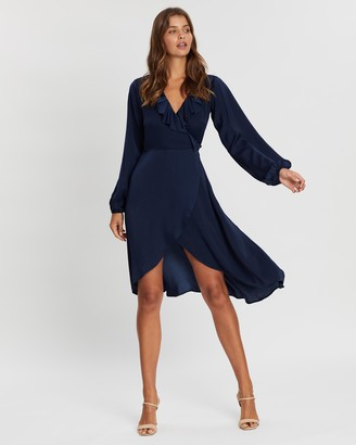 Atmos & Here Dakota Wrap Front Dress