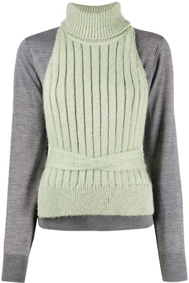 MM6 MAISON MARGIELA Layered Knitted Jumper