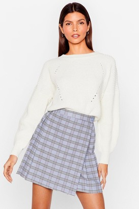 Nasty Gal Womens Crew Neck Chunky Knit Sweater - White