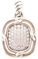 David Yurman Sterling Silver Labyrinth Pave Diamond Enhancer Pendant