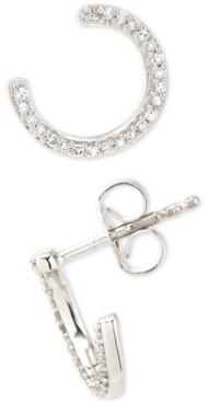 Elsie May Diamond Hoop Stud Earrings (1/8 ct. t.w.) in Sterling Silver