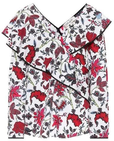 Diane von Furstenberg Floral-printed cotton top