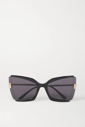 Tom Ford Oversized Square-frame Acetate Sunglasses - Black