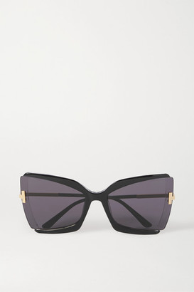 Tom Ford Oversized Square-frame Acetate Sunglasses - Black