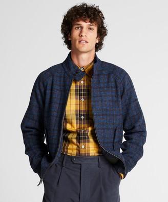 Todd Snyder Harris Tweed Varsity Jacket in Blue