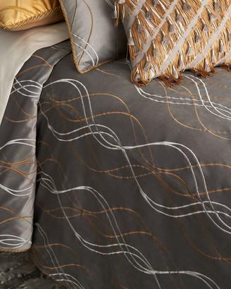 Dian Austin Couture Home Rialto Velvet Embroidered Queen Duvet