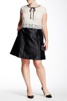 ABS by Allen Schwartz Short Sleeve Lace Bodice Dress (Plus Size)
