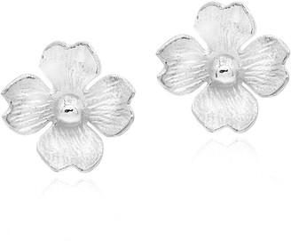 Aeravida Handmade Summer Clover Blossom .925 Sterling Silver Stud Earrings