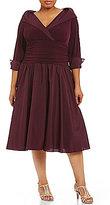 Jessica Howard Plus Portrait-Collar Dress