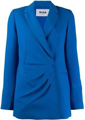 MSGM wrap front blazer