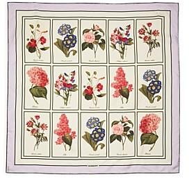 Burberry Floral Study Silk Scarf