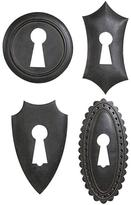 Home Decorators Collection 11.5 in. Keyhole Plaques (Set of 4)