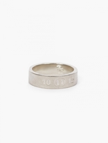 Maison Margiela Silver Number Embossed Ring