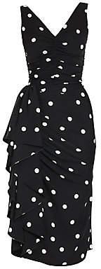 Dolce & Gabbana Women's Sleeveless Polka Dot Ruffle Dress