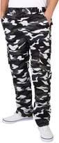 KRISP Mens Combat Cargo Pants Camouglage Military Trousers (7919-WHT-M)