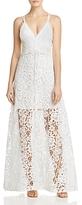 Aqua Crisscross Lace Maxi Dress - 100% Exclusive