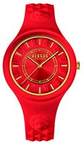 Versus By Versace Women's 'FIRE ISLAND' Quartz Rubber and Silicone Casual Watch, Color:Red (Model: SOQ100016)