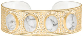 Anna Beck 18K Gold Plated Sterling Silver Howlite Multi Stone Cuff