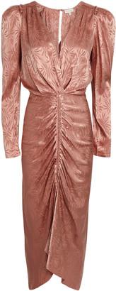 Ronny Kobo Astrid Rose Jacquard Satin Dress