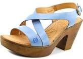 Børn Tomar Women Open Toe Leather Platform Sandal.