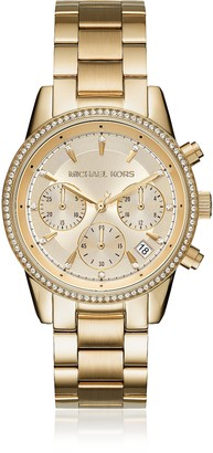 Michael Kors Ritz Pave Gold Tone Women's Watch