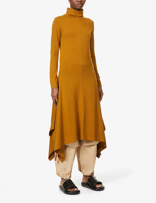 Kenzo Turtleneck stretch-jersey maxi dress