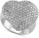 Effy Pavé Classica by Diamond Heart Ring (2 ct. t.w.) in 14k White Gold