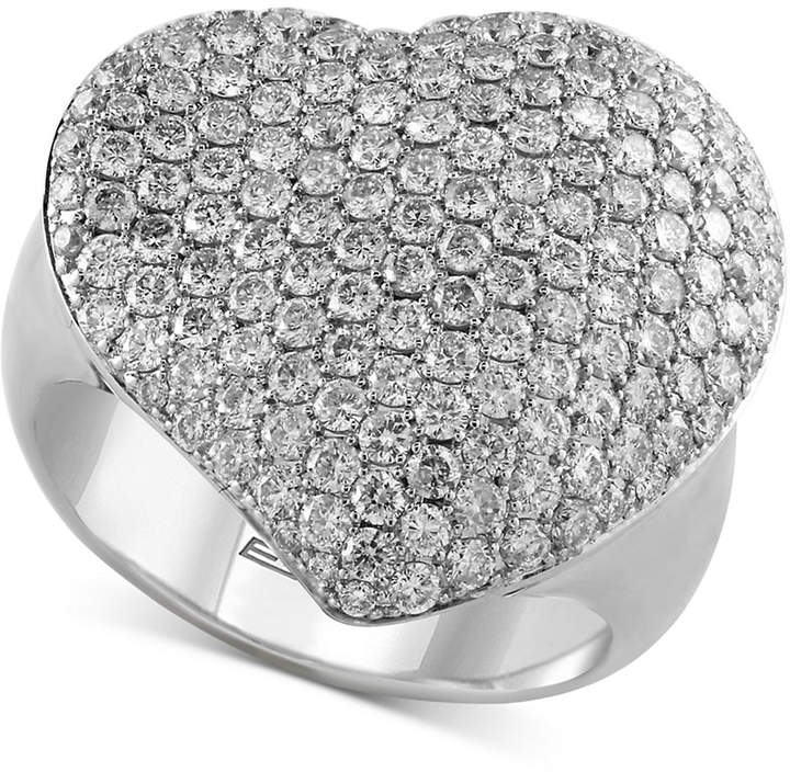 Effy Pave Classica by Diamond Heart Ring (2 ct. t.w.) in 14k White Gold
