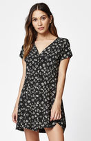 Obey Bella Flora Print Button-Front Dress