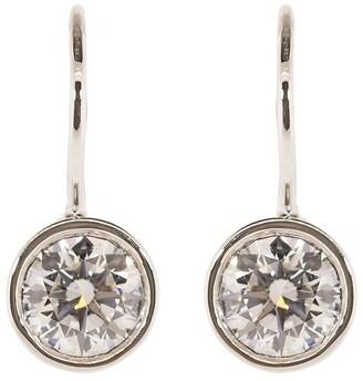 Kwiat 18kt White Gold Round Brilliant Diamond Drop Earrings