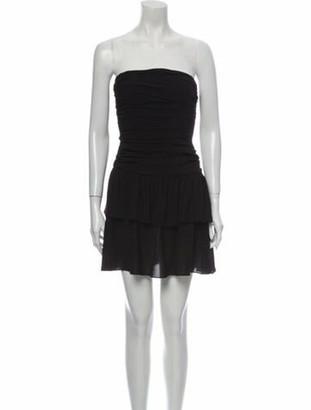 Celine Silk Mini Dress Black
