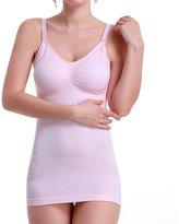 eC-Bionergy Breast Feeding Camisole Seamless Nursing Top Maternity Bra Tank Soft Cotton Stretchy(Skin/L)